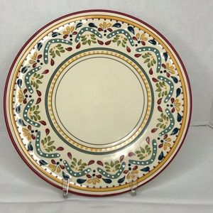 Set Of 2 Bobby Flay Dinner plates Sevilla Red